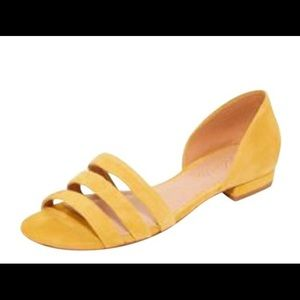 Madewell Curry/Mustard Yellow Sandals 'The Leila'